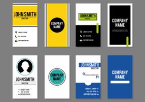 Vettori moderni di carte di nome