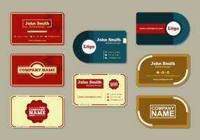 Vecteurs de cartes de noms modernes