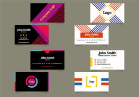 Vectores modernos tarjeta de nombre