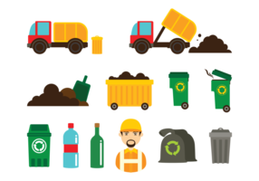 Landfill Icons Vector