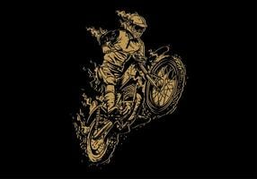 Dirt Bike Vintage Vector