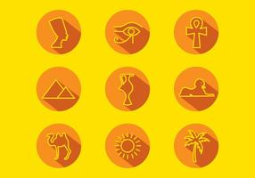 Piramide Icon Set Free Vector