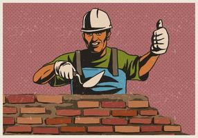 Masonry Worker vector