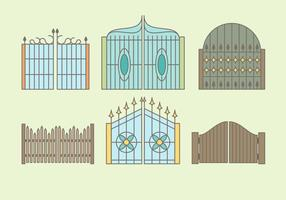 Vector libre de las puertas