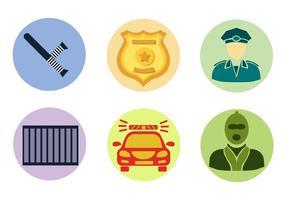 Polizei und Einbrecher Vektor Set