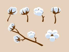 Vector de algodón libre de flores