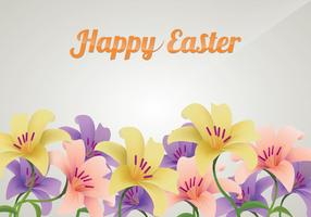 Beautiful Background With Easter Lily Flowers  vector