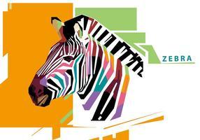 Zebra - wpap vektor