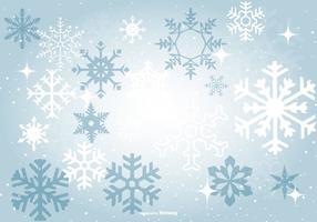 Beautiful Blue Snowflake Background vector