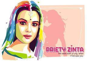 Priety Zinta - Vida de Bollywood - Retrato de Popart