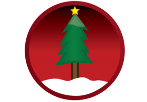 Vector Christmas Tree Button