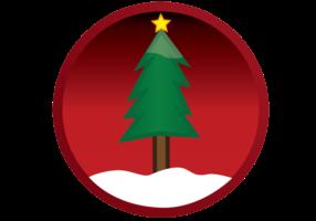 Vector Christmas Tree Button