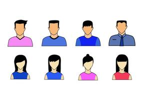 Gratis Folk Avatars Ikon Vector
