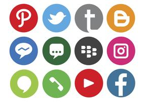 Logo dei social media vettore