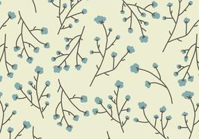 Cotton Flowers Pattern vector