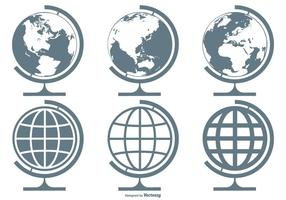 World Globes Vector Icon Collection