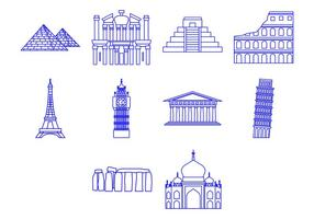 Gratis World Landmark Icon Vector