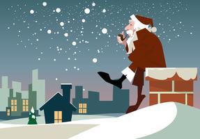 Vetor natal de papai noel