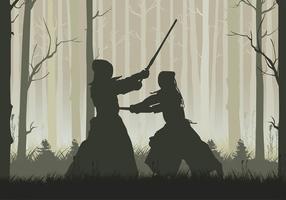 Vecteur libre de forêt kendo