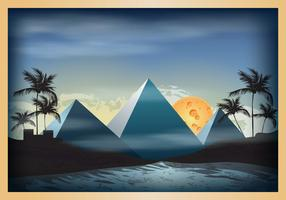 Piramide scene illustration