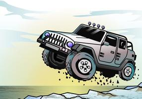 Adventure Jeep Jumping