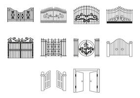 Gratis Gate Icon Vector