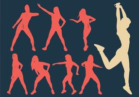 Zumba Woman Dancers Silhouette vector
