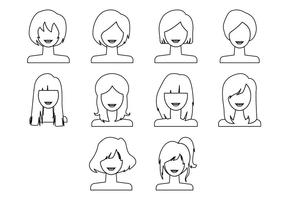 Gratis Woman Hairstyle Icon Vector