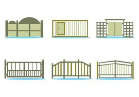 Open Gate Vector Set
