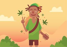 Guy mit Dreads Vector Design