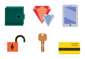 Common Stolen Items Vector Set
