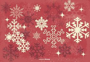 Grunge Sneeuwvlok Vector Achtergrond