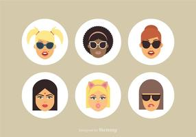 Free Cartoon Female Vector Avatars