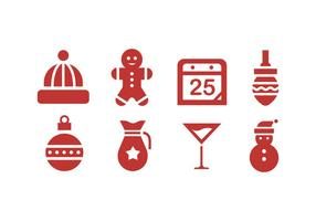 Christmas Icons with White Background vector