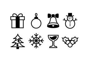 Kerstpictogrammen stock vectoren