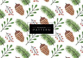 Pijnboom kerstpatroon
