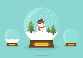 Globos de nieve ilustración vectorial