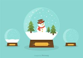 Snow Globes Vector Illustration