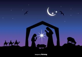Vacker Nativity Scene Vector
