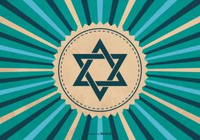 Hanukkah Symbol on Sunburst Background