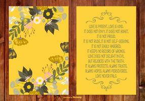 Beautiful Floral Poem Card