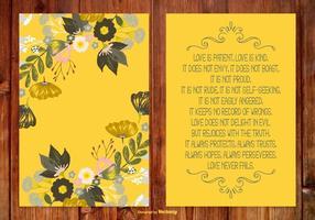 Belle carte de poème floral