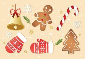 Vector de elementos de Navidad gratis