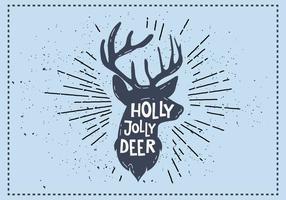Gratis Christmas Deer Vector