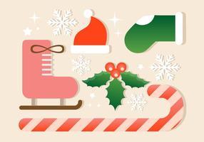 Elementos gratuitos do vetor do Natal
