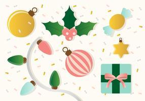 Ornamentos libres del vector de la Navidad
