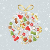 Vetor de fundo de Natal grátis