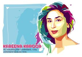 Kareena kapoor - vida bollywood - popart portrait