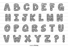 Cute Hand Drawn Alphabet Collection