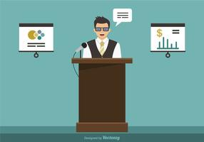 Business Seminar Vector Illustration